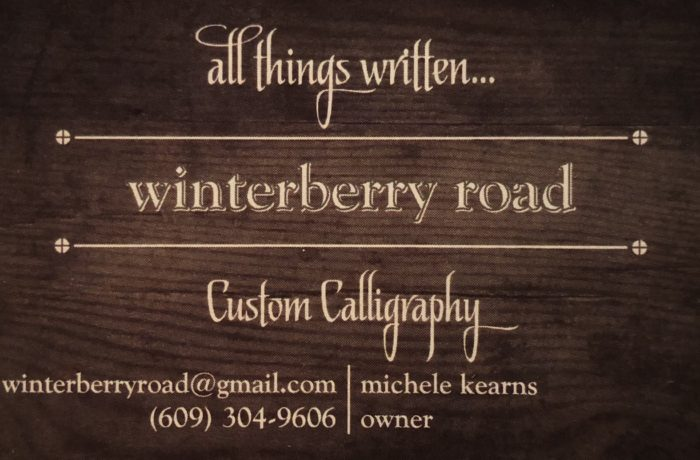 Winterberry Road LLC, Custom Calligraphy Servives